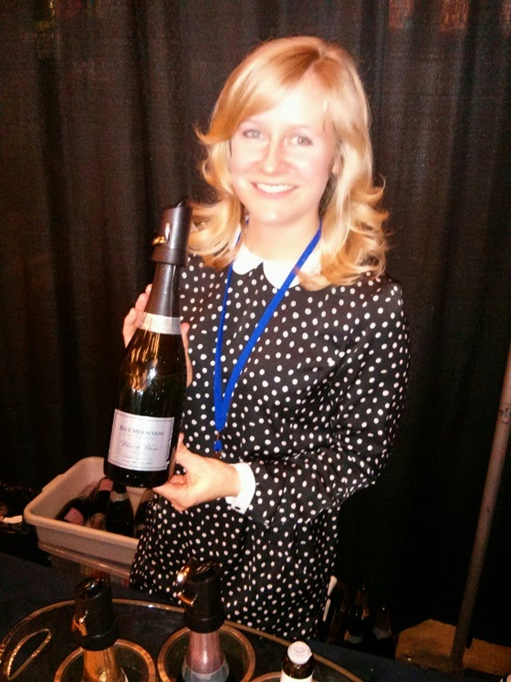 Christie Mavety shows of Blue Mountain Brut