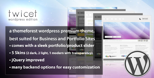 Twicet Business & Portfolio - Wordpress - 5 in 1 - ThemeForest Item for Sale