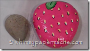 paint a rock 2 look like a strawberry