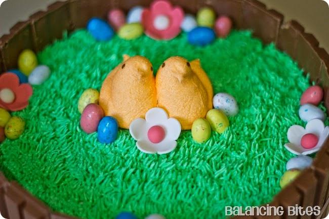 Balancing Bites - Spring Easter Kit Kat Cake