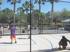 Florida Marriott Cypress Harbour basketball court