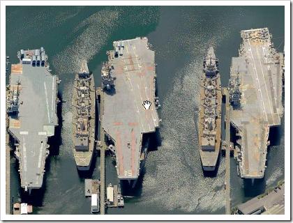 Mothballed fleet at the Puget Sound Naval Shipyard - Bremerton