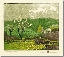 Cherry-Bloom-by-Gustave-Baumann