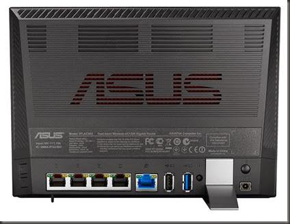 ASUS RT-AC56U 背面孔位