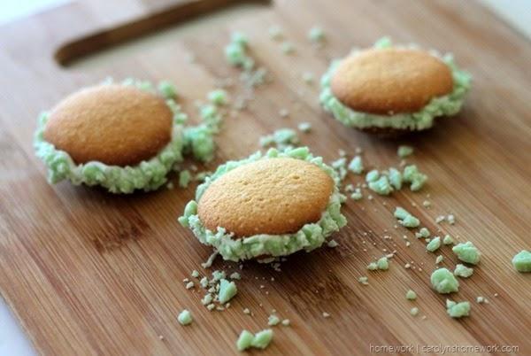 Carolyns Homework Vanilla Wafter Mint Cookies