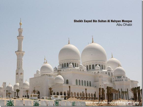 Masjid Sheikh Zayed Al Nahyan - Abu Dhabi, U.A.E