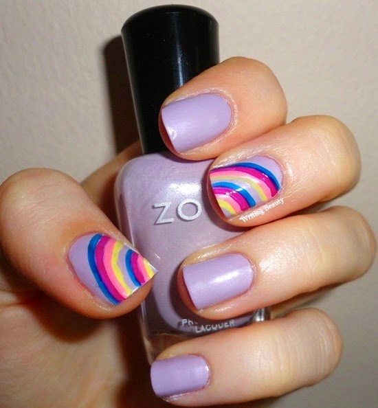 Double Rainbows Nail Art 2