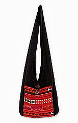 novica handcrafted cotton sling bag
