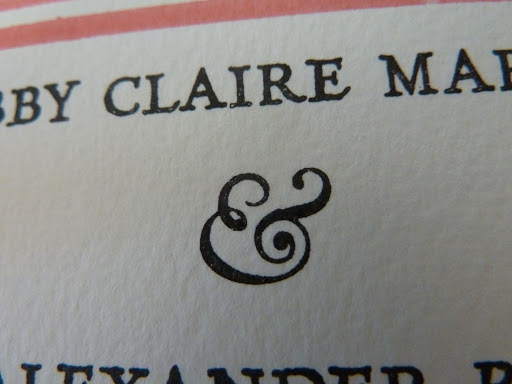 I heart this ampersand a lot.