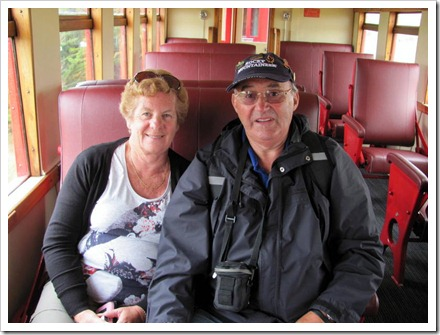 Enjoying a ride on the Weka Pass railway.