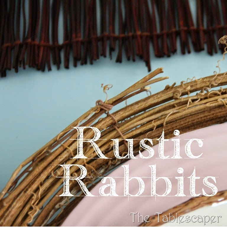 rustic rabbits tablescape- the tablescaper