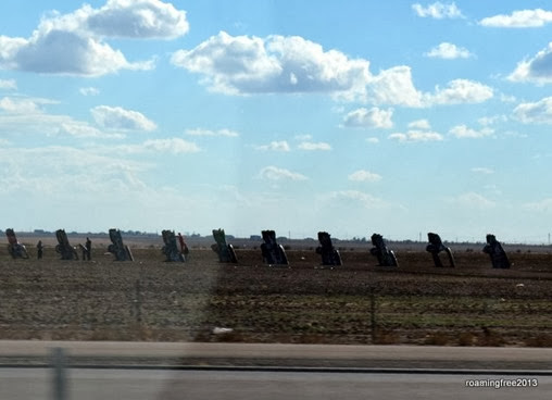 Cadillac Ranch - as we drove by!