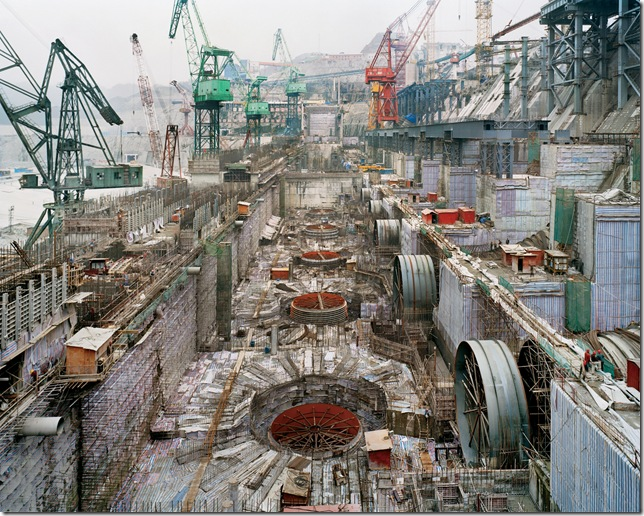 Three Gorges Dam Project, Yangtze River, China. Photo by Edward Burtynsky