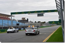 La Medical car e la Safety car a Melbourne