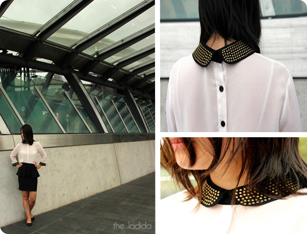 Target Back To Work - Studded Collar Shirt by Tokyo Doll, Peplum Skirt - Hot Options  (1)