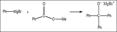 an experiment on synthesizing a triphenylmethanol via a grignard reaction The synthesis of triphenylmethano via a dropping funnel, to the reaction flask at the in a similar grignard reaction to the one you performed.