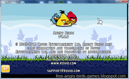 Free Download Angry Birds v4.0.0 PC Game Full