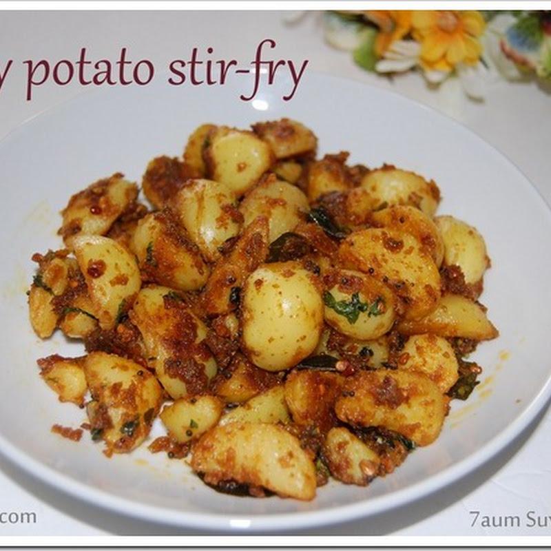 Baby potato stir-fry