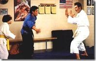 Kramer doing karate