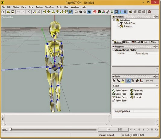 Animation 444 exported from Anim Maker open in FragMotion