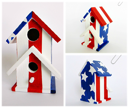 All-American Birdhouse 3 View Collage
