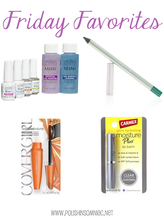 Friday Favorites - Gelish, Mally, CoverGirl and Carmex!