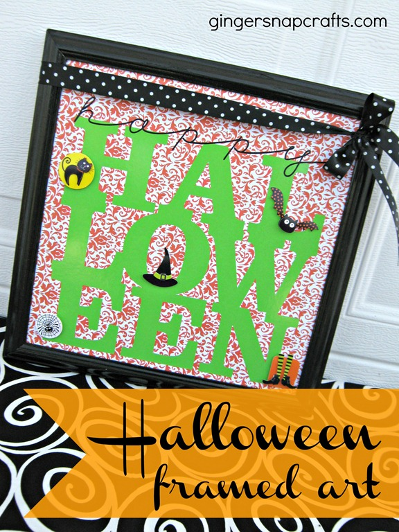 Halloween Framed Art from Ginger Snap Crafts