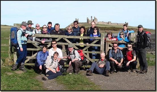 Walkers near Dunstanburgh