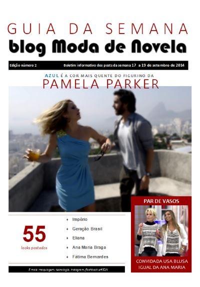 capa da revista Guia da Semana do blog Moda de Novela edição 002
