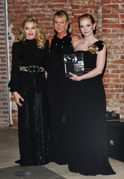 Madonna, Frida Giannini and Jessica Chastain