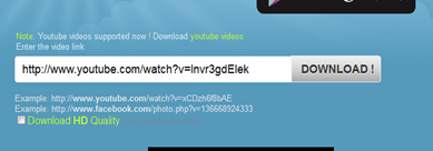ดาวน์โหลดวีดีโอจาก youtube โดยไม่ง้อโปรแกรม