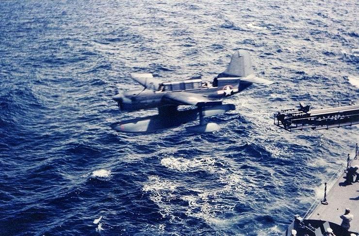 Curtiss_SO3C_catapulted_USS_Biloxi_1943.jpg