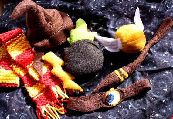 Harry Potter Inspired Catnip Toys from Miss Stitchin Witch
