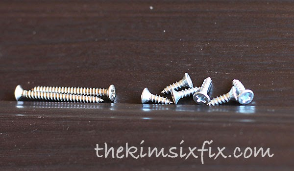 Different screw sized