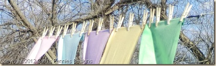 Drying Pastel Wools
