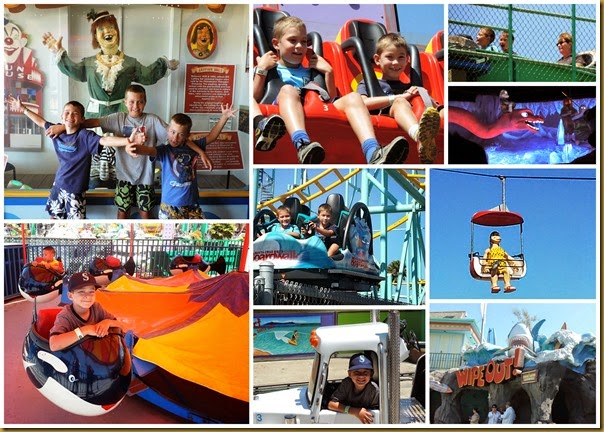 santa cruz boardwalk collage