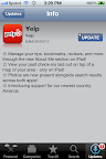 Info on the latest update from Yelp app