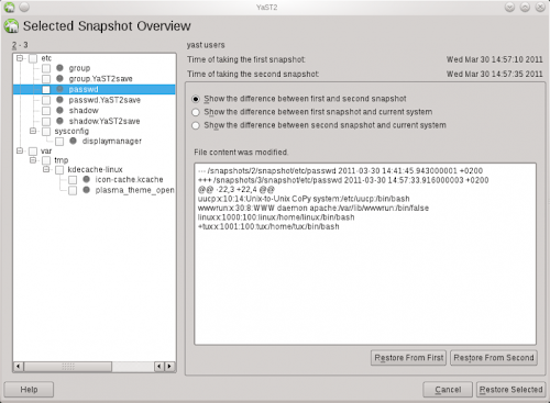Btrfs - Snapper in openSUSE