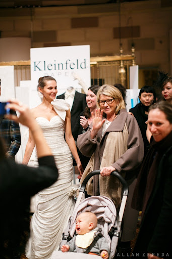 Martha and baby Truman stopped by the Kleinfeld Bridal booth on the way in.