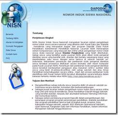 Beranda situs NISN