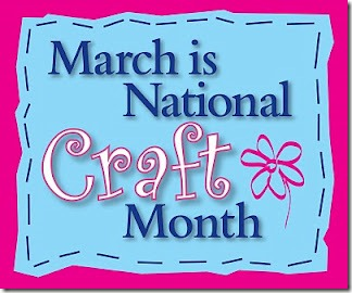 National Craft Month button