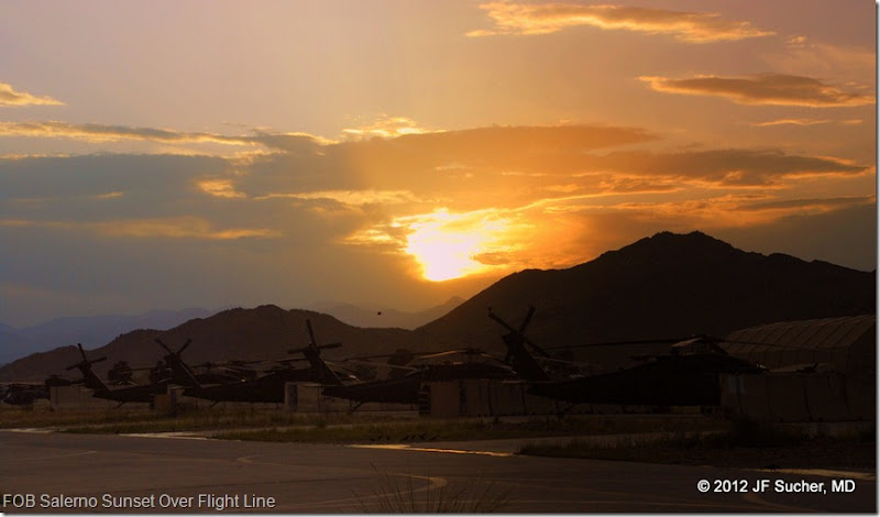 FOB Salerno Sunset Over Flight Line