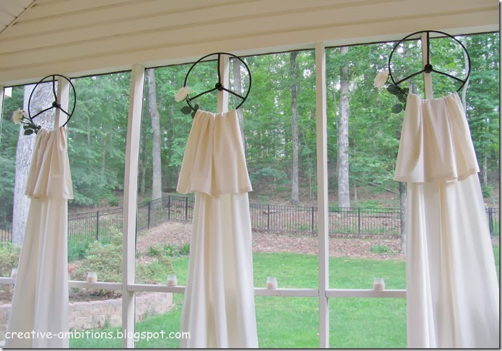 Tractor Wheel Curtain Hangers Idea