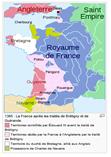 Mapa de fRANÇA 1365