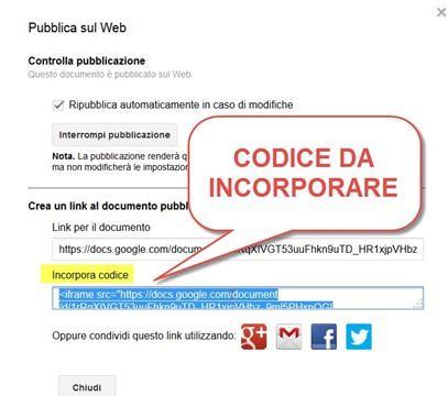 codice-da-incorporare-google-drive