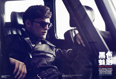 Sean O'Pry @ VNY by Gregory Harris for GQ China, January 2012. Styled by Sean Spellman