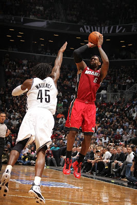 lebron james nba 130130 mia at bro 15 LeBron Torches Nets in Angry Mode. Debuts LeBron X No. 17!