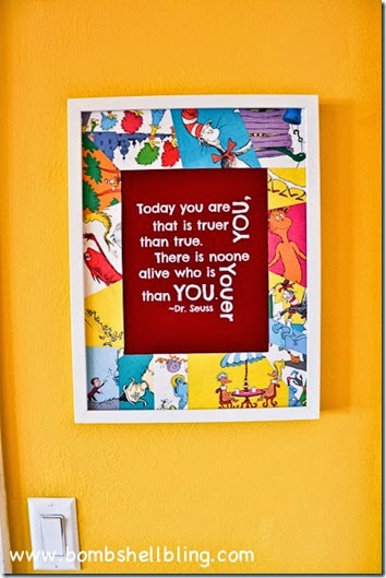 Dr-Seuss-Collage-Frame-and-Printable-7 Bombshell bling