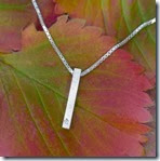 Valentines Day Gifts Diamond and Silver Bar Pendant by Lilia Nash Jewellery