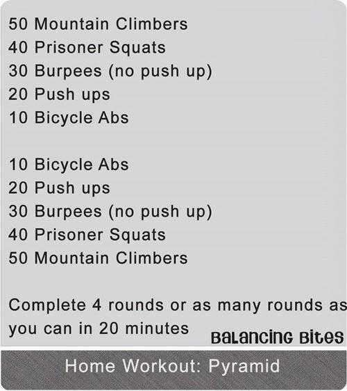 Balancing Bites - Home Workout Pyramid